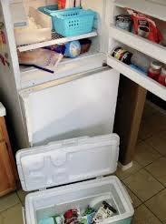 fridge not working food in coolers, food in coolers, refrigerator not working, refrigerator broken, refrigerator repair,